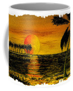 Row Of Palm Trees Coffee Mug