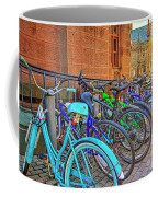 Row Of Student Bikes At Princeton University Nj Coffee Mug