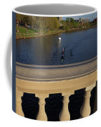 Rowinfg Towards The Weeks Bridge Charles River Harvard Square Cambridge Ma Coffee Mug