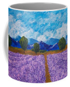 Rows Of Lavender In Provence Coffee Mug