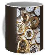 Rows Of Pocket Watches Coffee Mug by Garry Gay