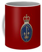 Royal Australian Navy -  R A N  Badge Over Red Velvet Coffee Mug