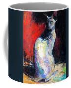 Royal Sphynx Cat Painting Coffee Mug by Svetlana Novikova