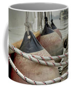 Rubber Fenders On The Side Of The Motor Yacht Coffee Mug