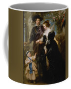 Rubens His Wife Helena Fourment 16141673 And Their Son Frans 16331678 Coffee Mug