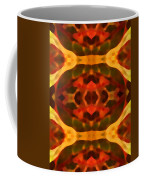 Ruby Crystal Pattern Coffee Mug
