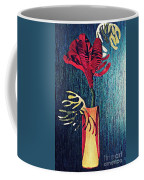 Ruby Red Flower Coffee Mug