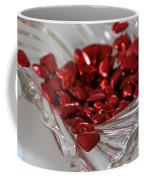 Ruby Red Hearts And Crystal Coffee Mug