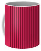 Ruby Red Striped Pattern Design Coffee Mug