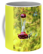 Ruby-throated Hummingbird 2 - Impasto Coffee Mug