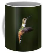 Rufous Hummingbird In Flight Coffee Mug