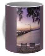 Rum Point Beach Chairs At Dusk Coffee Mug