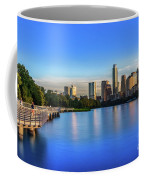 Runners, Joggers And Bikers Take An Early Morning Stroll On The The Boardwalk Trail Coffee Mug