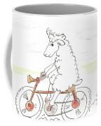 Running Cyclist Cheep Coffee Mug