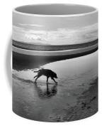 Running Dog Bw Coffee Mug