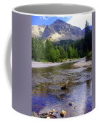 Running Eagle Creek Glacier National Park Coffee Mug
