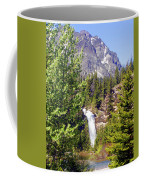 Running Eagle Falls Glacier National Park Coffee Mug