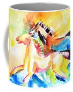 Running Horses Color Coffee Mug