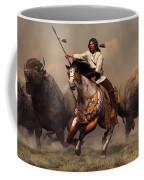 Running With Buffalo Coffee Mug by Daniel Eskridge