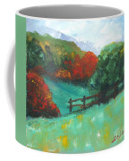 Rural Autumn Landscape Coffee Mug
