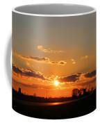 Rural Il Sunset Reflections Coffee Mug