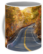 Rural Road Running Along The Maple Trees In Autumn 2 Coffee Mug