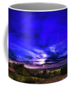 Rural Sunset Panorama Coffee Mug