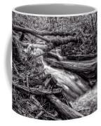 Rushing Stream - Bw Coffee Mug