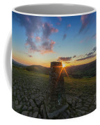 Rushup Edge From Mam Tor Summit Sunset Coffee Mug