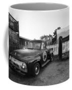 Russel Farms 1951 Ford F100 Black And White Coffee Mug