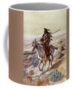 Russell Charles Marion Indian With Spear Coffee Mug