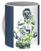 Russell Wilson Seattle Seahawks Pixel Art 10 Coffee Mug
