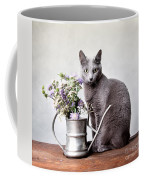 Russian Blue 02 Coffee Mug by Nailia Schwarz
