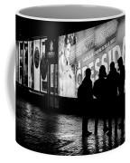 Russian Teens At Night Outside A Shopping Center Coffee Mug