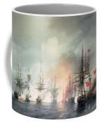Russian Turkish Sea Battle Of Sinop Coffee Mug by Ivan Konstantinovich Aivazovsky