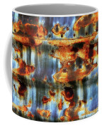 Rust And Blue Coffee Mug