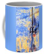 Rusted Blue And Yellow Door Coffee Mug