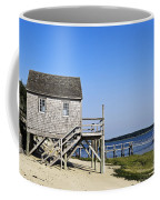 Rustic Boathouse On The Beach. Coffee Mug
