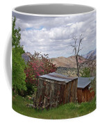 Rustic Cabins On A Hillside Coffee Mug by Patricia Strand