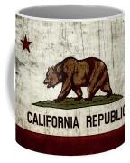 Rustic California State Flag Design Coffee Mug