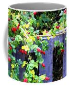 Rustic Fence And Wild Rosehips Coffee Mug