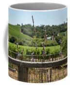 Rustic Fence In Wine Country Coffee Mug