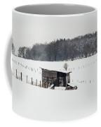 Rustic Shed In The Winter Coffee Mug
