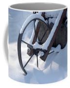 Rustic Wheel In The Snow#2 Coffee Mug
