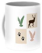 Rustic Wildlife Pattern Coffee Mug