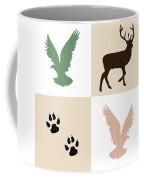 Rustic Wildlife Pattern Coffee Mug