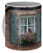 Rustic Window And Red Bricks Wall Coffee Mug