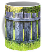 Rustic Wooden Fence At Old World Wisconsin Coffee Mug