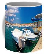 Rusty Fishing Boat In Sali Harbor Coffee Mug