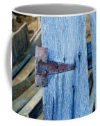 Rusty Hinge In The Blue Of The Evening Coffee Mug